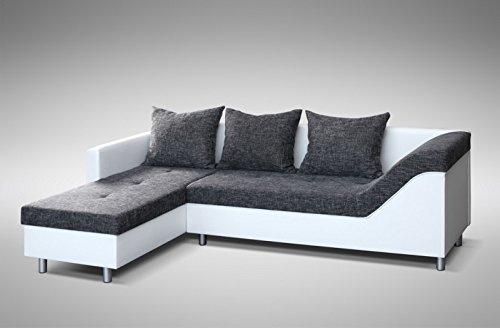 Kuechen Preisbombe Sofa Couch Ecksofa Eckcouch Sofagarnitur in WeissGraubraun Lissabon - Küchen-Preisbombe Sofa Couch Ecksofa Eckcouch Sofagarnitur in Weiss/Graubraun - Lissabon 2- L