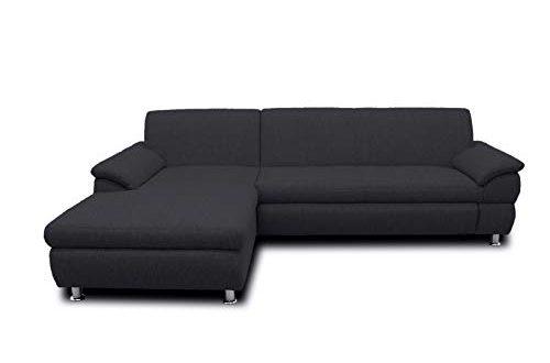 DOMO Collection Ecksofa Bounty | L-Form Eckcouch | 266x172x82 cm | Wohnlandschaft Polsterecke Sofa Garnitur in schlamm