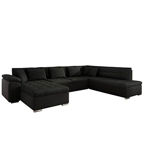 Mirjan24 Eckcouch Ecksofa Niko Bis! Design Sofa Couch! mit Schlaffunktion und Bettkasten! U-Sofa Große Farbauswahl! Wohnlandschaft vom Hersteller (Ecksofa Links, Soft 011 + Porto 36)