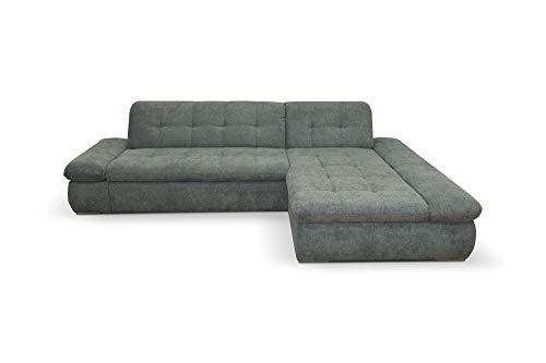Domo Collection Ecksofa Moric / Eckcouch mit Bett / Sofa mit Schlaffunktion in L-Form / 300x172x80 cm (B/T/H) / Schlafsofa in Grau